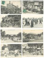 20 Cpa Algérie Animées: Sétif, Maison-Carrée, Marengo, Miliana, Souk Ahras, Dellys, Marchés, école, Café Maure (S.7466 ) - Otros