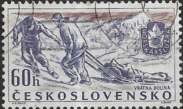 CZECHOSLOVAKIA 1957 Sports Events Of 1957 - 60h - Rescue Squad (Mountain Rescue Service)  FU - Used Stamps