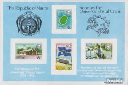 Nauru Block1 (kompl.Ausg.) Postfrisch 1974 100 Jahre Weltpostverein - Nauru