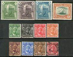ZANZÍBAR (PROTECTORADO) Serie X 12 Sellos SULTÁN = VELERO Año 1936 - Zanzibar (...-1963)
