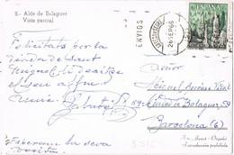 42113. Postal ARTESA De SEGRE (Lerida) 1966. Vista ALOS De BALAGUER - 1961-70 Storia Postale