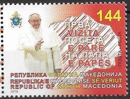 2019 Nord Macedonia Mazedonien Mi.  881  **MNH Besuch Von Papst Franziskus - Macedonië