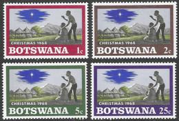 Botswana. 1968 Christmas. MH Complete Set. SG 249-252 - Botswana (1966-...)