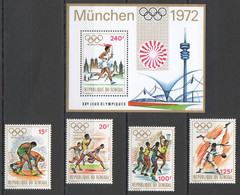 N894 SENEGAL SPORT XX SUMMER OLYMPIC GAMES MUNICH 1972 GOLD 1BL+1SET MNH - Estate 1972: Monaco