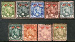 ZANZÍBAR (PROTECTORADO) Serie X 9 Sellos SULTÁN THWAIN Año 1898 - Zanzibar (...-1963)