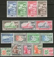 ZANZÍBAR Serie Completa X 16 Sellos Nuevos SULTÁN ABDULLAH Año 1961 - Zanzibar (...-1963)