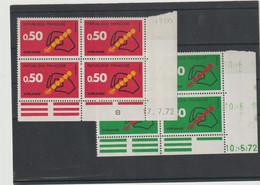 N° 1719/1720 - CODE POSTAL - 10.5.72 Et 17.7.72 - 1970-1979