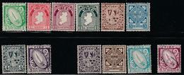 IRLANDE - N°40/51 ** Sauf N°48 Obl (1922-24) Série Courante - Unused Stamps