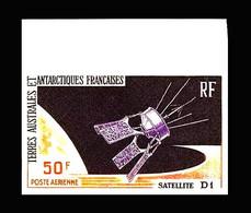 TAAF: 'Satellite Diapason [D1A] In Space – [non Dentelée], 1966', Mi. 35U; Yv. PA.12ND; Sc. C11 Imperf ** - Oceania
