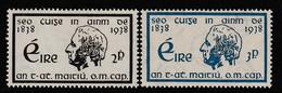 IRLANDE - N°73/4 ** (1938) Père Mathew - Unused Stamps