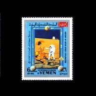 KR Jemen / Kingdom Of Yemen: 'Apollo-12 In Space – Astronaut Studies The Surveyor-3, 1969', Mi. 886; Yv. PA.108D ** - Asia