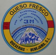 Etiquette Fromage - Queso Fresco - J.M Queserias-Benejama Alicante Export - Espagne   A Voir ! - Cheese