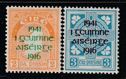 IRLANDE - N°93/4 * (1941) Surchargés - Unused Stamps