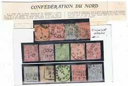 CONFEDERATION DU NORD-TIMBRES OBLITERES- - Collections