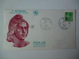 Enveloppe Ier Jour FDC 1959  République Paysanne 10 Frs Vert Oblit. Ord. Paris RP - 1950-1959