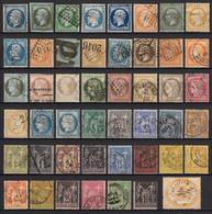 France 1849/1890 - Belle Collection Napoléon, Cérès, Sage, COTE 740€ B/TB - Collections