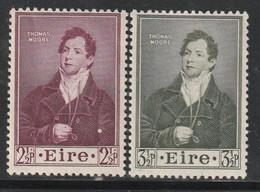 IRLANDE - N°116/7 ** (1952) Thomas Moore - Unused Stamps