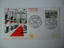 Enveloppe Ier Jour FDC 1959  Palais De L'Elysée 30 Frs  Oblit. Ill. Musée Postal Paris - 1950-1959