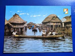 BENIN PECHEUR LAC NOKOUE CITE LA CUSTRE DE GANVIE - Benin