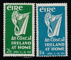 "IRLANDE - N°118/9 ** (1953) Festivale ""Irlande Chez Elle"" - Unused Stamps"