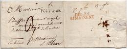 France Vienne Poitiers PD16 Et Deboursé 75 ST Maixent (ind 20) 10/09/1821 - 1701-1800: Precursors XVIII