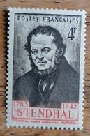 FRANCE VARIETE SIGNATURE ROUGE AU LIEU DE MARRON SUR TYPE STENDHAL N° 550 N** TB - Curiosities: 1941-44 Mint/hinged