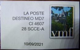 Destinéo - MD7 - CI 4607 - 28 SCCE-A - Avec Simili Timbre VMF - Sur Fragement - Private Stationery