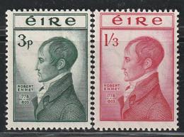IRLANDE - N°120/1 * (1953) Robert Emmet - Unused Stamps