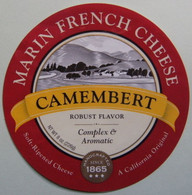 Etiquette Camembert - Marin French Cheese - Robust Flavor California Export - U.S.A    A Voir ! - Cheese