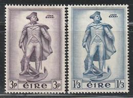 IRLANDE - N°126/7 * (1956) Commodore John Barry - Unused Stamps