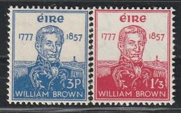 IRLANDE - N°132/3 * (1957) William Brown - Unused Stamps