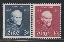IRLANDE - N°134/5 * (1957) Père Luke Wadding - Unused Stamps