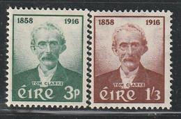 IRLANDE - N°136/7 * (1958) Thomas J.Clarke - Unused Stamps