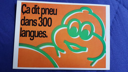 CPM PUBLICITE GRAND PRIX DE L AFFICHE BIBENDUM MICHELIN CA DIT PNEU DS 300 LANGUES 1986 - Publicidad