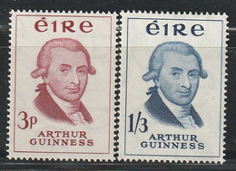 IRLANDE - N°142/3 * (1959) Arthur Guinness - Unused Stamps