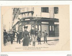 64 BIARRITZ L INFANTE MARIA TERESE SOEUR DU ROI D ESPAGNE ET SON MARI CPA BON ETAT - Biarritz