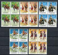 España 1974. Edifil 2167-71 X 4 ** MNH - 1971-80 Nuovi