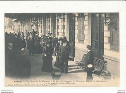 64 BIARRITZ EN GARE DE NEGRESSE LE ROI D ANGLETERRE LA PRINCESSE BEATRIX DE BATTENBERG NOUVELLE REINE D ESP CPA BON ETAT - Biarritz