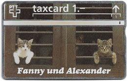 Switzerland - Swisscom (L&G) - K Series - K-92-244 - Fanny Und Alexander Cats - 211L - 11.1992, 1Fr, 10.000ex, Used - Schweiz