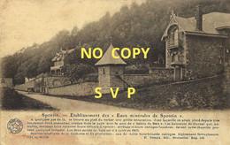 01575 SPONTIN // ETABLISSEMENT DES EAUX MINERALES DE SPONTIN // NON ECRITE // DOS DIVISE - Yvoir