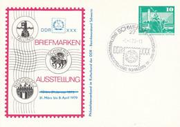 DP 79 Bauwerke Berlin Rathausstr.  Mit  DDR XXX Briefmarken Ausstellung 1979, Schwerin 1 - Postkarten - Gebraucht
