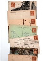 TIMBRE TYPE SEMEUSE CAMEE.... 25c JAUNE BRUN......LOT DE 100 SUR CPA.......LOT 6 - 1906-38 Sower - Cameo