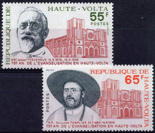 HAUTE-VOLTA :1975: Y.375-76*** Postfris/neufs/MNH : EVANGELISATION, Joanny THEVENOUD,Guillaume TEMPLIER. - Cristianesimo