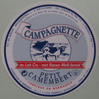 Etiquette Petit Camembert  - Campagnette - Fromagerie U.C.L.F Osmanville 14 Export - Normandie    A Voir ! - Cheese