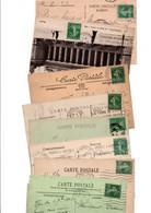 TIMBRE TYPE SEMEUSE CAMEE...10c VERT........LOT DE 100 SUR CPA.......LOT 11 - 1906-38 Sower - Cameo