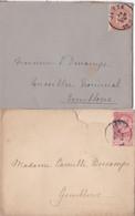 2 Enveloppes 57 58 Jette à Gembloux - 1893-1900 Fine Barbe