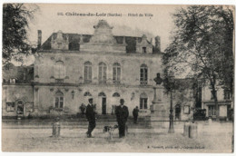 CPA 72 Château Du Loir Hôtel De Ville Vignault - Chateau Du Loir
