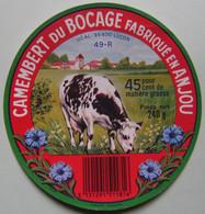 Etiquette Camembert - Du Bocage D'Anjou - Fromagerie 49.R Pour UCAL à Luçon 85 - Vendée   A Voir ! - Cheese