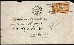 Cuba - 1947 - Lettre - Par Avion - Envoyé En Argentine - Covers & Documents