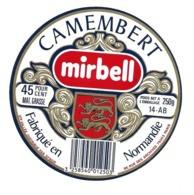 ETIQUETTE De FROMAGE..CAMEMBERT Fabriqué En NORMANDIE.. Mirbell.. Ets VALLEE - Cheese